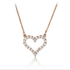 Lovely rose gold crystal heart necklace